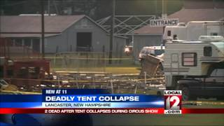 REPORT: 2 dead, 15 hurt in New Hampshire tent collapse
