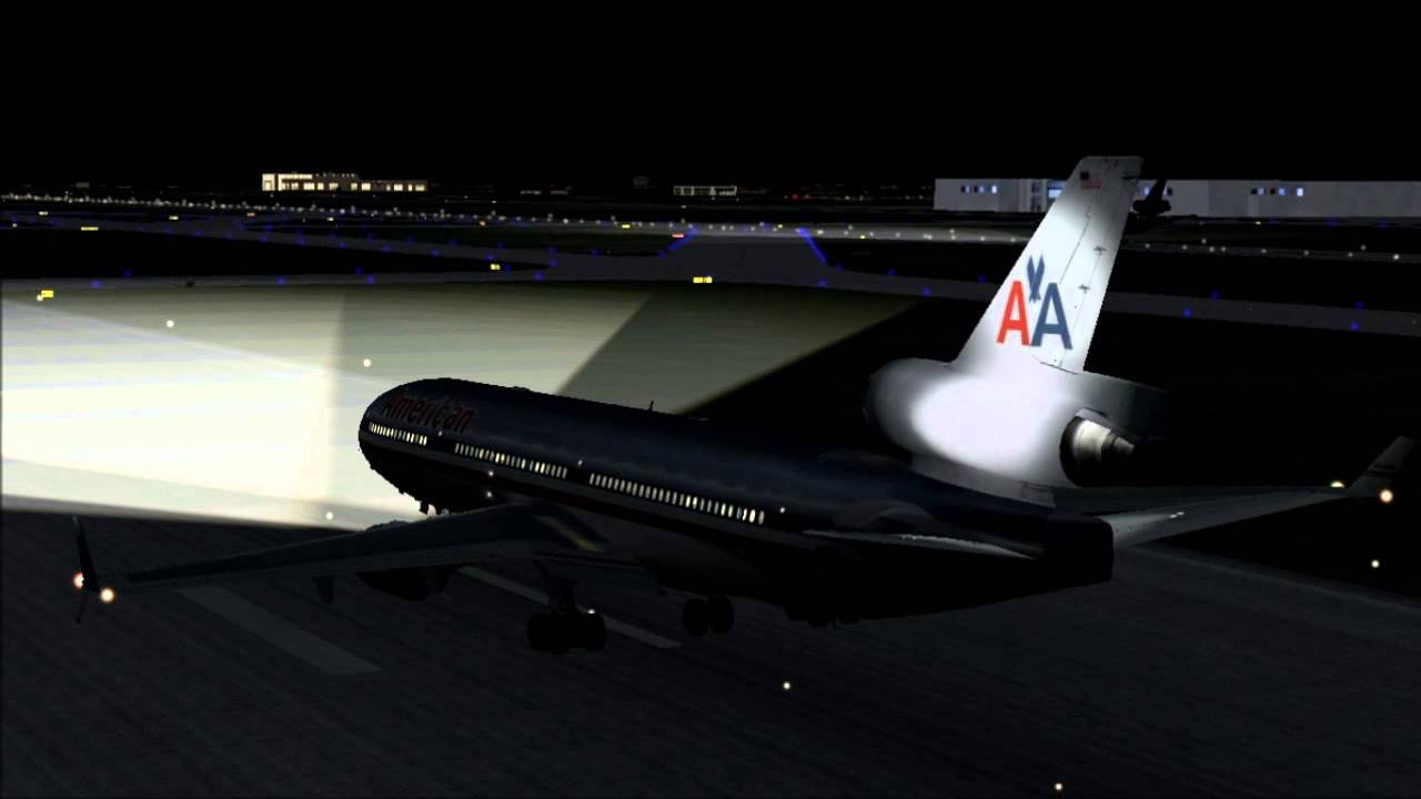 Fsx Hd American Airlines Dc10 X Md11 Youtube