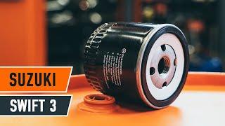 Cómo cambiar la filtro de aceite y aceite de motor en SUZUKI SWIFT 3 Hatchback [INSTRUCCIÓN AUTODOC]