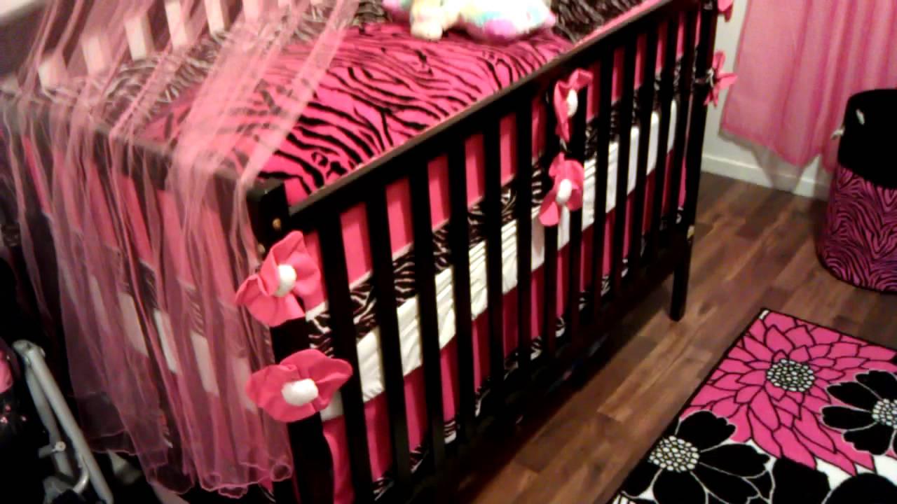 most adorable baby girl nursery ever! kali's new room! pink zebra