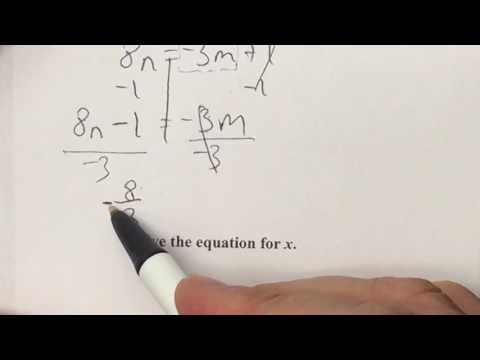 1 3 Practice Day 2 Literal Equations Formulas Youtube