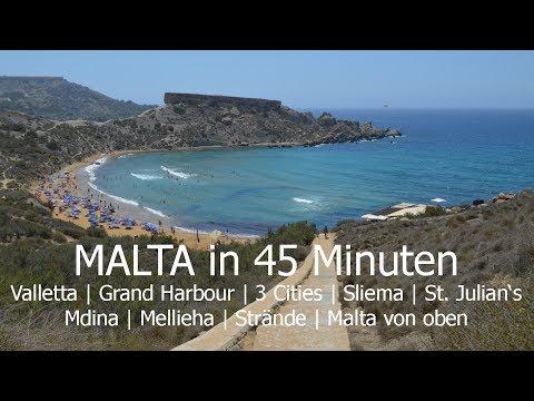 Malta in 45 Minuten | Ortschaften und Strände