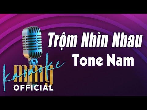 Trộm Nhìn Nhau (Karaoke Tone Nam) | Hát với MMG Band