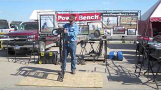 Power Bench: Easy, Adjustable Workbench And Miter Saw Stand