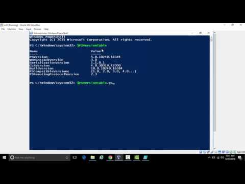 how to determine installed PowerShell version
