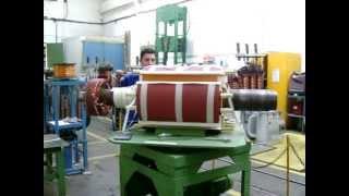 Rebobinagem do Rotor de Gerador 1800kw - parte 02