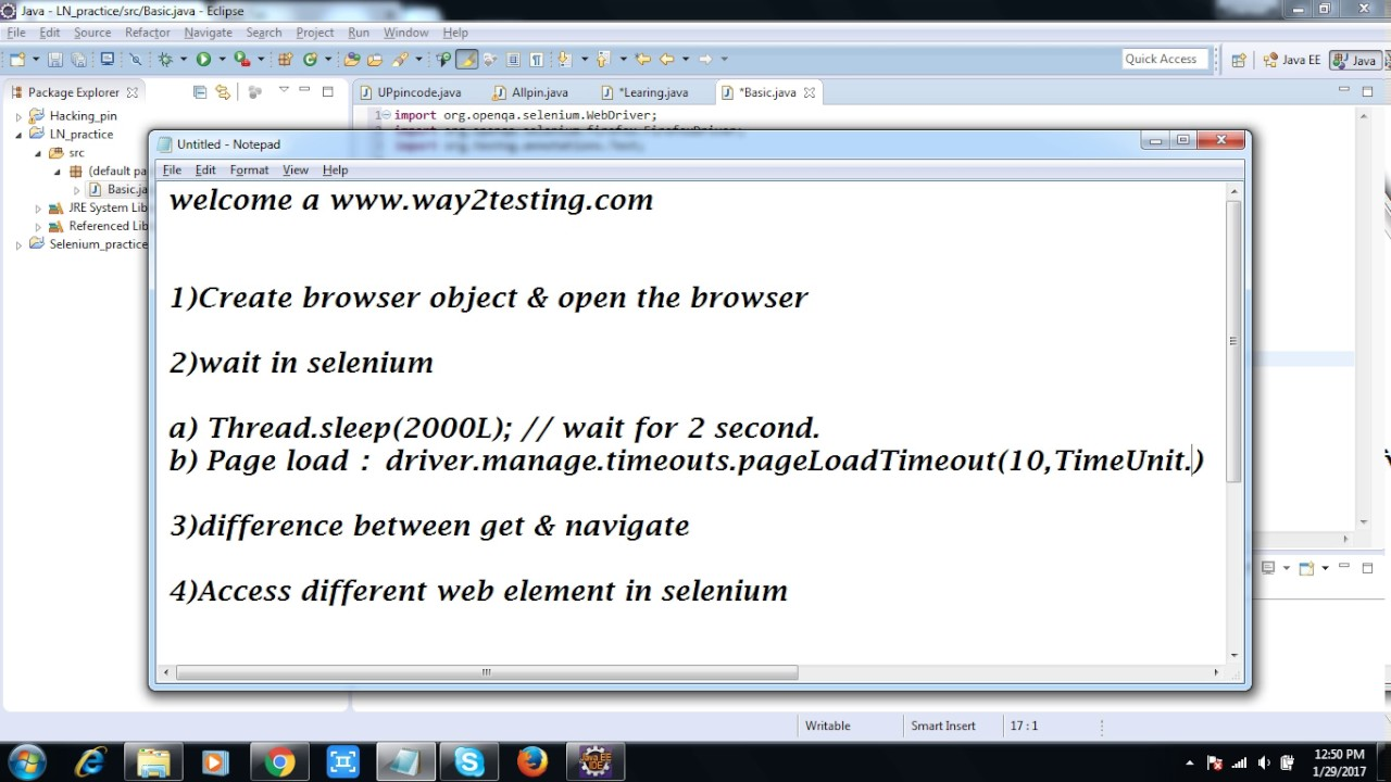 Best Online Software Testing Tutorial way2testing: Basic