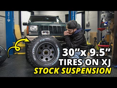 "XJ Build Pt. 1 - Will 30"" Tires Fit on A Stock XJ Cherokee Suspension? 1987 - 1996"