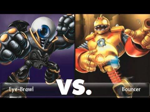 Skylanders giants duellmodus bouncer 13 vs eye brawl - Coloriage skylanders giants eye brawl ...