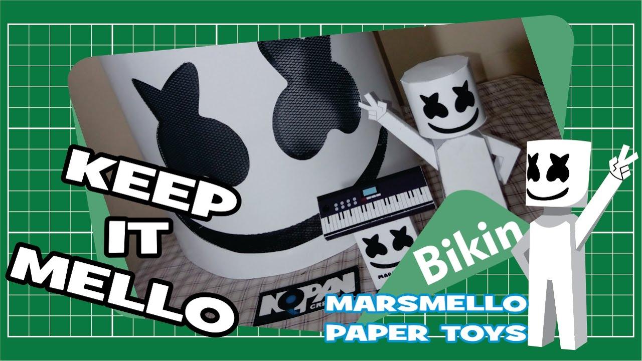 Marshmello Paper Toys Ver Ganeshandra Free Template YouTube