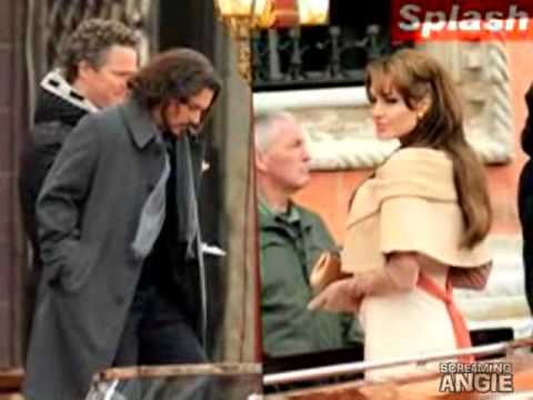 ANGELINA JOLIE & JOHNNY DEPP SHOOTING FILM IN VENICE ' THE TOURIST '