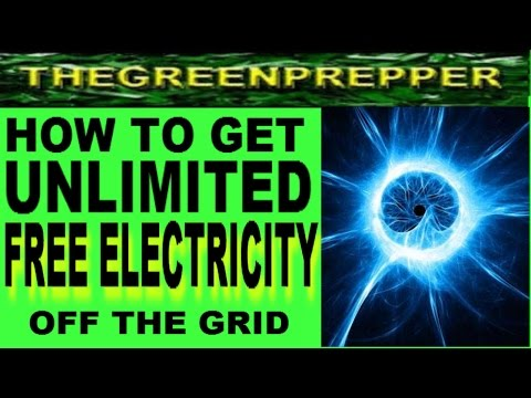 HOW TO GET UNLIMITED FREE ELECTRICITY OFF THE GRID - HOW TO GET FREE SOLAR PANELS SHTF SELF RELIANT