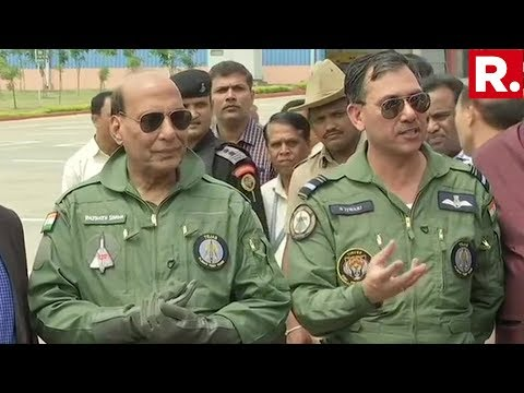 Defence Minister Rajnath Singh's Media Briefing After Flying A Sortie Aboard The Tejas LCA