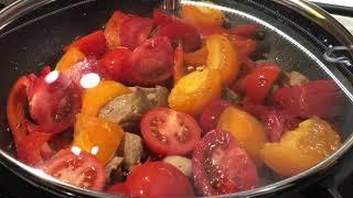 Свиная сковородка с Овощами / Как пожарить свинину на сковородке с овощами / Что приготовить на ужин
