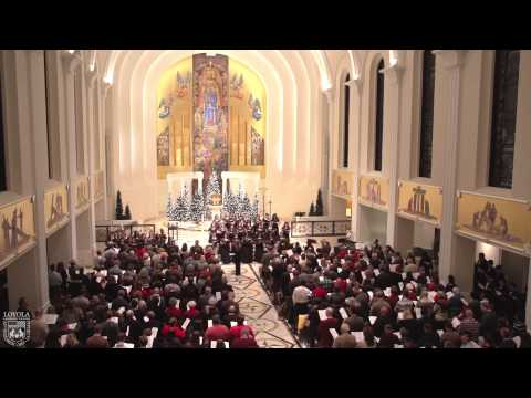 Lessons and Carols event Saturday, December 7, 2013, at Madonna della Strada Chapel