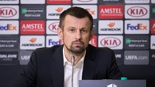 «Зенит» — «Фенербахче»: предматчевая пресс-конференция Сергея Семака и Сердара Азмуна