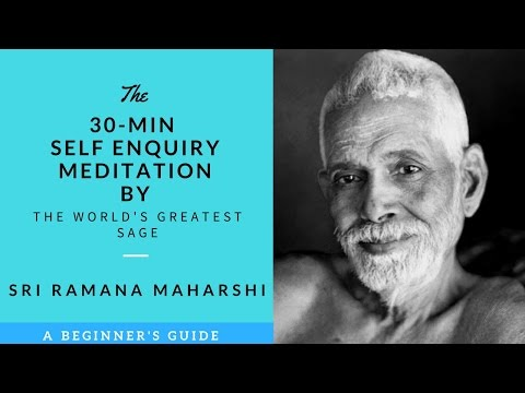 30 MINS WHO AM I GUIDED MEDITATION BY THE WORLD'S GREATEST SAGE ✔✔