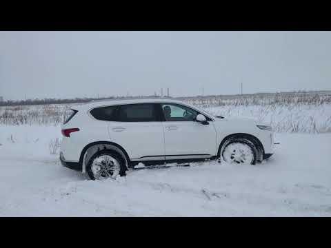 Skoda Kodiaq  и Hyundai Santa-FE TM  небольшой OFF-ROAD по снегу
