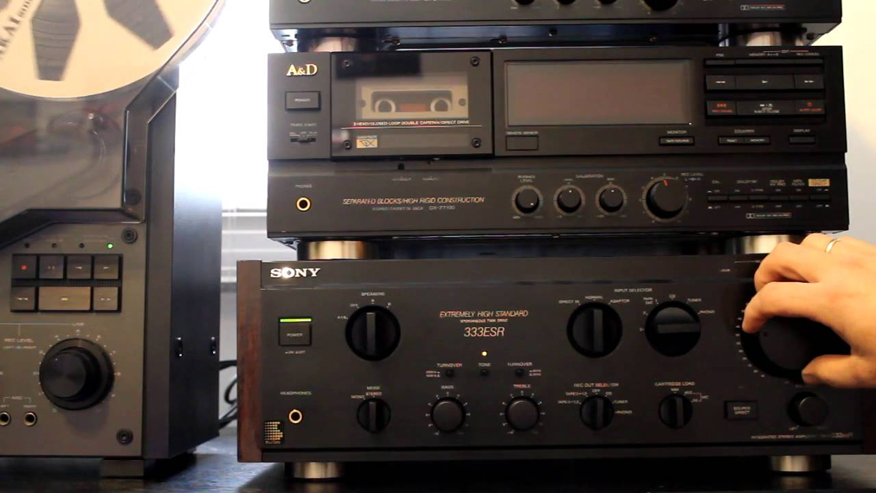 Sony TA-333 Integrated Stereo Amplifier - YouTube