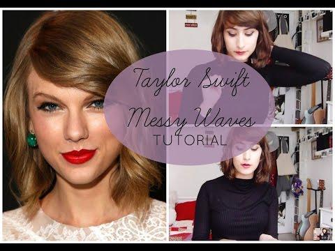 Messy 'Taylor Swift' Waves for Short Hair Tutorial || Sunday Girl