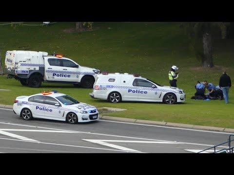 Police Drama Below Kings Park, Perth W.A. 4 Sept 2019