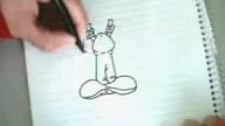 Чувак начинает рисовать с ЧЛЕНА А ПОТОМ нармальным рисунком!!!