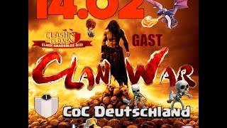 Clash of Clans Clanwar bei Coc Deutschland und 3 Mega Angriffe auf Max out Bases
