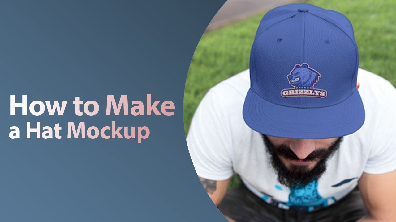 1bd6614396d How to Make a Hat Mockup - YouTube