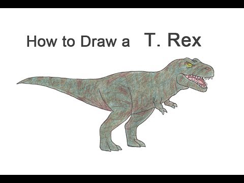 How to Draw a Tyrannosaurus Rex (Cartoon)