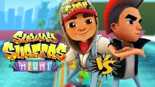 SUBWAY SURFERS Miami - Jake in Miami vs Spike in Miami  - Subway Surfers World Tour 2019