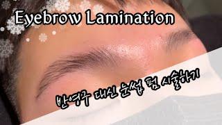 Eyebrow laminate / 눈썹 라미네이트 시술