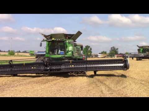 Big Class 9 Combines On The Move