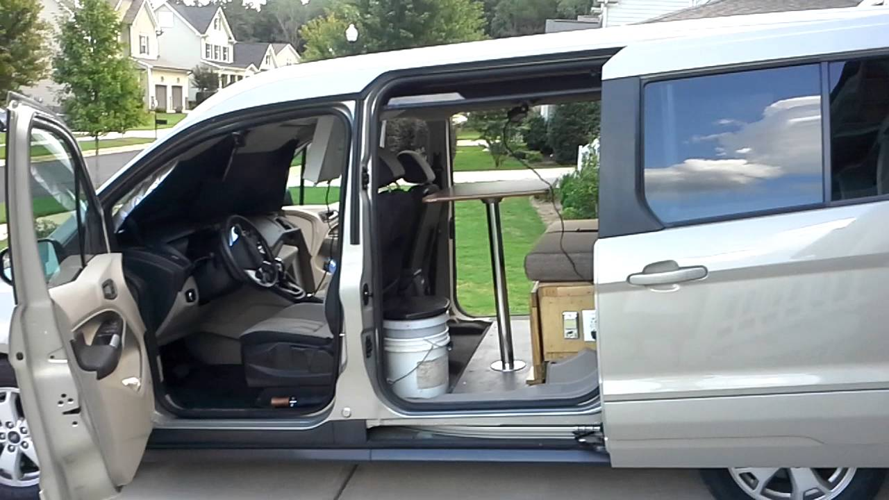 van camper from ford transit connect 2015 youtube. Black Bedroom Furniture Sets. Home Design Ideas