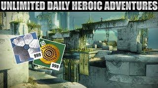 Unlimited Daily Heroic Adventures - How to farm Mercury Tokens! Destiny 2: Curse of Osiris