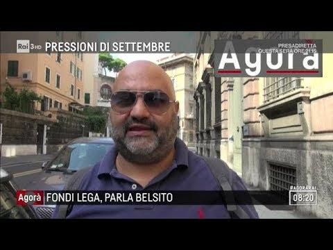 """Intervista esclusiva a Belsito: """"Sfido Salvini a confronto tv"""" - Agorà 10/09/2018"""