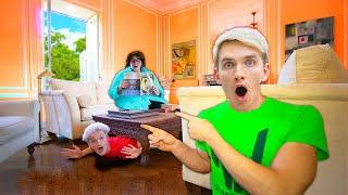 WILL WE ESCAPE the MYSTERY NEIGHBOR HOUSE?! (Hiding inside)