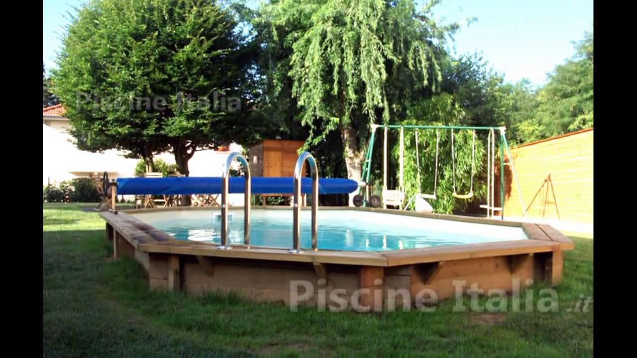 Piscine legno ottagonali allungate interrate youtube for Translate piscine
