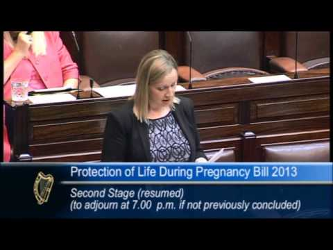 Lucinda Creighton on Protection of Life During Pregnancy Bill 2013