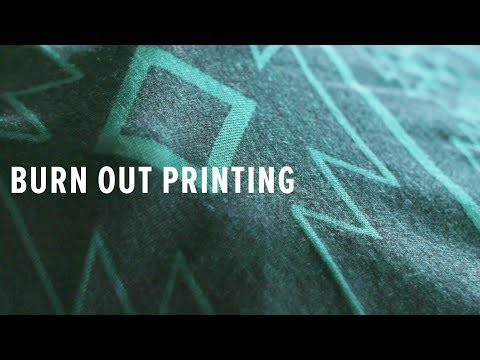 How To Do A Burn Out Print