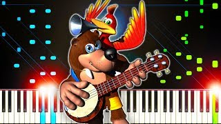 Banjo-Kazooie Theme Music - Piano Tutorial