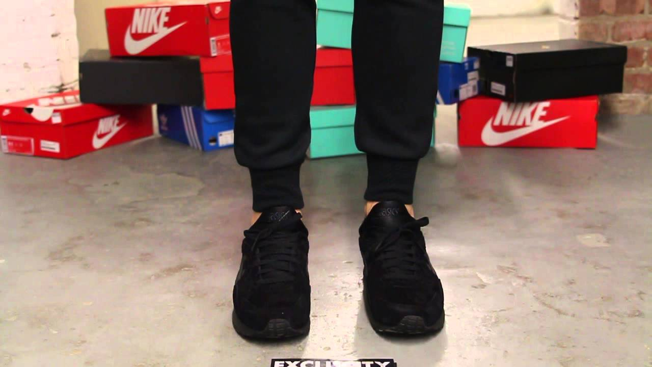 finest selection 6433b 982a3 Asics Gel-Lyte V Black - Black On-feet Video at Exclucity