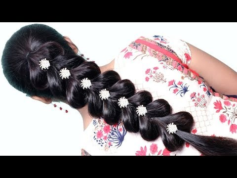 very easy hairstyle with trick || trending hairstyle || party hairstyle || hairstyles 2019 thumbnail