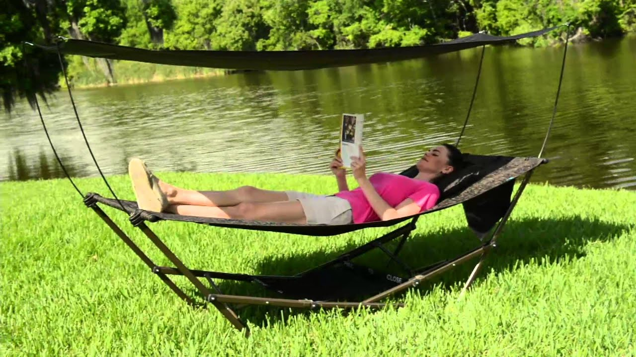 Bliss Hammocks Stow EZ Hammock with Canopy on QVC & Bliss Hammocks Stow EZ Hammock with Canopy on QVC - YouTube