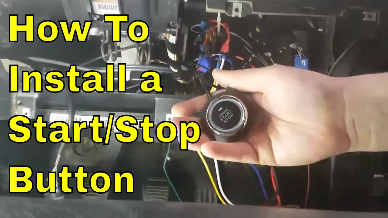 small resolution of how to install a universal engine start stop button