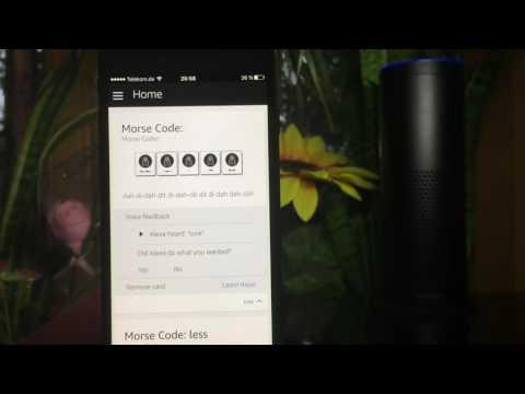 Exercises in Morse code with Amazon Echo - Alexa teaches you how to Morse code