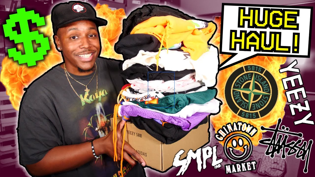 BACK TO SCHOOL CLOTHING SNEAKER HAUL Ft STONE ISLAND CHINATOWN MARKET SAMPLE IND YEEZY MORE