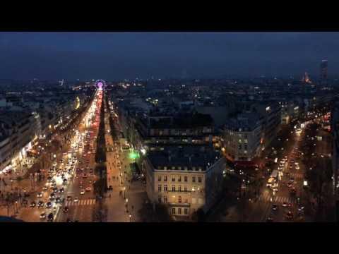 파리 개선문 야경