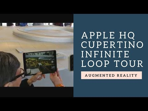 Augmented Reality Tour of the Apple Cupertino Infinite Loop Campus