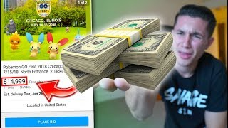 SPENDING $15,000 ON A TICKET TO POKÉMON GO FEST!?