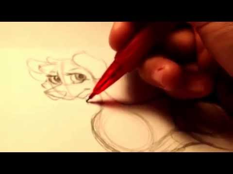 How To Draw A Cartoon Wolf (WITH BODY)